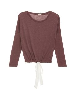 EBERJEY HEATHER L/S PAJAMA TOP IN GRAPE