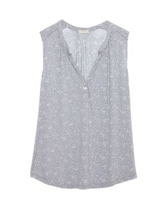 EBERJEY MOON DOTS SLVLS PAJAMA TOP IN GREY