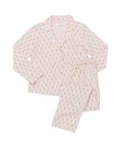CAT'S PAJAMAS TAOS KNIT PAJAMA SET IN PINK