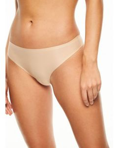 CHANTELLE SOFT STRETCH THONG IN BEIGE