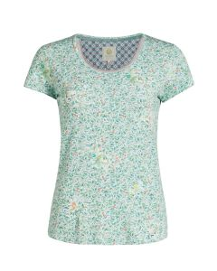 PIP STUDIO TILLY S/S PAJAMA TOP IN YVES GREEN