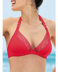 ANTIGEL LA DOUBLE MIX SWIM TRIANGLE BRA IN ROUGE *FINAL SALE