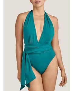 AUBADE LA PLAGE ENSOLEIL SWIM PADDED ONE PIECE IN MINERAL