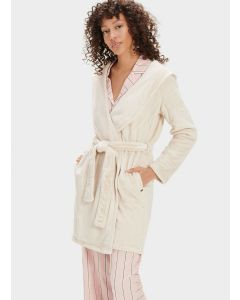 UGG MIRANDA SHORT HOODED ROBE IN MOONBEAM