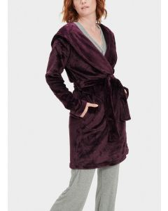 UGG MIRANDA SHORT HOODED ROBE IN PORT