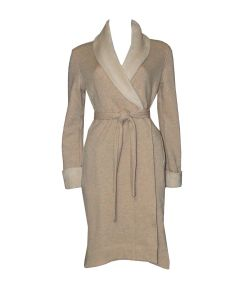 UGG DUFFIELD II SHORT ROBE IN OATMEAL