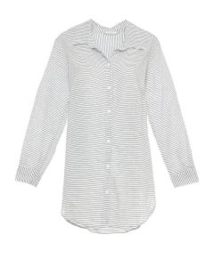 EBERJEY STRADA SWIM SHIRT COVER UP IN WHITE