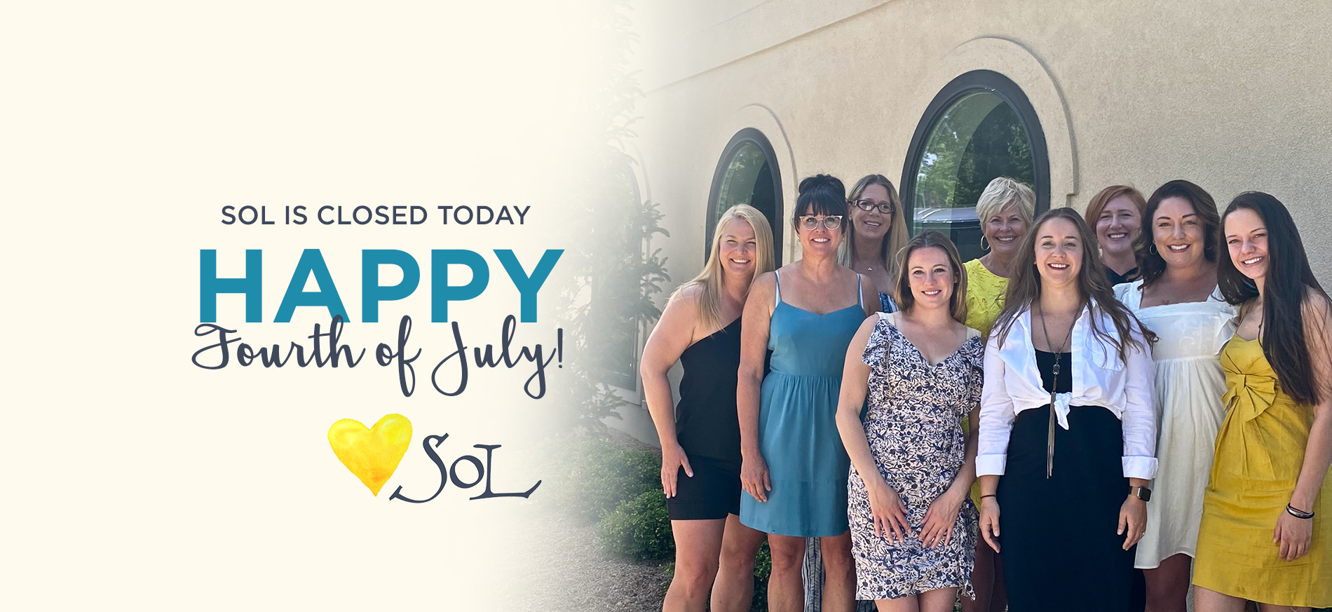 SOL is Closed for the 4th of July