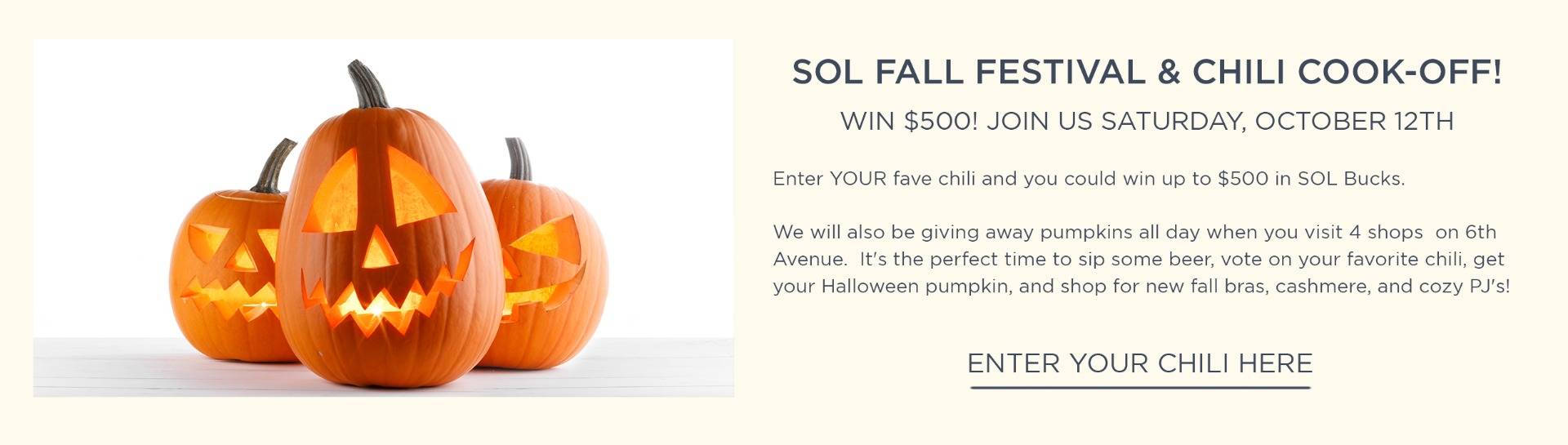 SOL Fall Celebration and Chili Cook Off