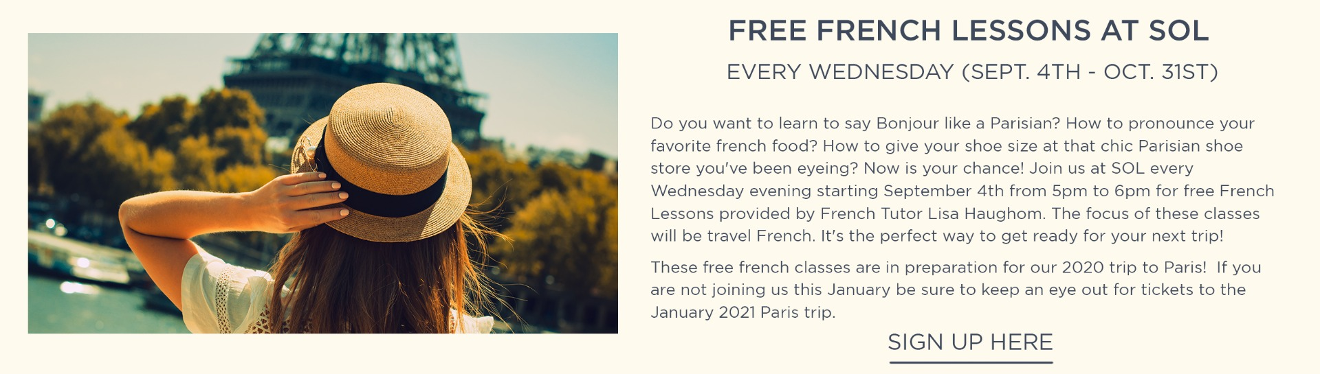 Free French Lessons at SOL
