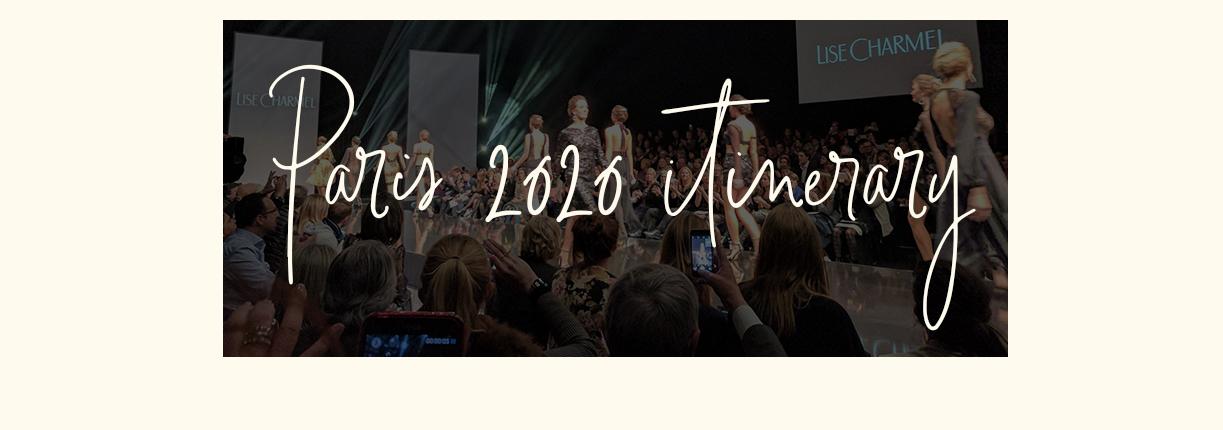 Paris 2020 Itinerary