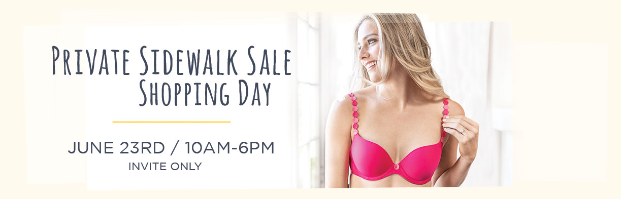 Your Private Sidewalk Sale Shopping Day!