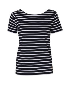 ARMOR LUX BRETON STRIPE SHORT SLEEVE TOP IN NAVY/WHITE