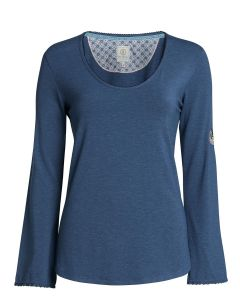 PIP STUDIO TROMP L/S PAJAMA TOP IN BLUE